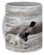 Cormorant Taking To The Air Coffee Mug
