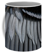 Cormorant Wing Feathers Abstract Coffee Mug