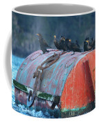Cormorants On A Barrel Coffee Mug