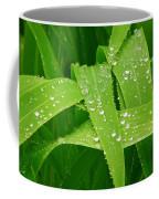 Corn Leaves After The Rain Coffee Mug