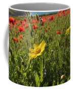 Corn Marigold And Poppies Coffee Mug