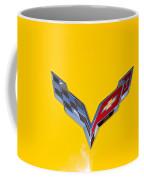 Corvette Emblem On Yellow Coffee Mug