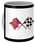 Corvette Flags On White Coffee Mug