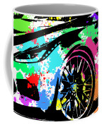 Corvette Pop Art 3 Coffee Mug
