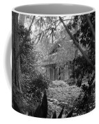 Cottage Black White Gardens Louisiana  Coffee Mug