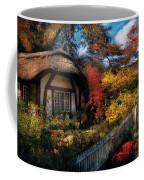 Cottage - Grannies Cottage Coffee Mug by Mike Savad