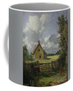 Cottage In A Cornfield Coffee Mug by John Constable