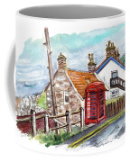Cottages In Runswick Bay Coffee Mug