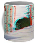 Cougar - Use Red-cyan 3d Glasses Coffee Mug