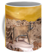 Cougar In The Mountain - 3d Render Coffee Mug
