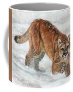 Cougar In The Snow Coffee Mug
