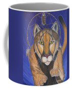 Cougar Medicine With Cobalt Blue Background Coffee Mug