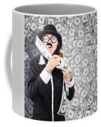 Counterfeit Printing Rolls Of American Money Coffee Mug