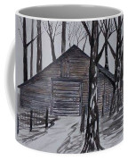 Country Barn Pen And Ink Drawing Print Coffee Mug