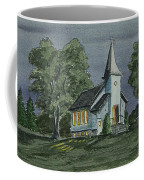 Country Church On A Summer Night Coffee Mug