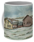 Country Farm In Winter Coffee Mug