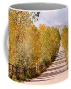Country Road Autumn Fall Foliage View Of The Twin Peaks Coffee Mug
