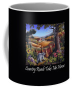 Country Roads Take Me Home T Shirt - Coon Gap Holler - Appalachian Country Landscape 2 Coffee Mug