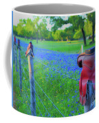 Country Western Blue Bonnets Coffee Mug