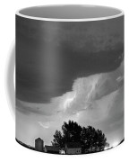 County Line Northern Colorado Lightning Storm Bw Coffee Mug by James BO  Insogna