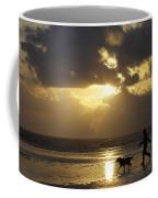 County Meath, Ireland Girl Walking Dog Coffee Mug