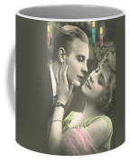 Couple About To Kiss In Front Of Christmas Tree Coffee Mug