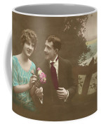 Couple At Beach Colorized Coffee Mug