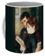 Couple Reading Coffee Mug by Pierre Auguste Renoir