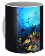 Couple Snorkels At Surfac Coffee Mug