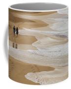 Couple Walking Makena Beach Coffee Mug