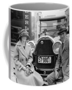 Couple With Their Peerless Car Coffee Mug