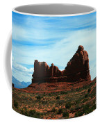 Courthouse Rock In Arches National Park Coffee Mug