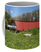 Covered Bridge Across The River Coffee Mug