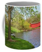Covered Bridge Over The Lake Coffee Mug