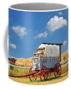 Covered Wagon - Bar U Ranch Alberta Canada Coffee Mug by Ola Allen