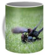 Cow Bird Fight Coffee Mug