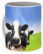 Cow On Green Grass Field Coffee Mug