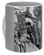 Cowboy And Six Shooter Bw Coffee Mug