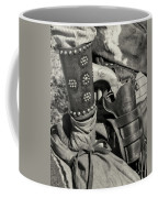 Cowboy And Six Shooter Bw Sepia Coffee Mug