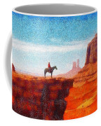 Cowboy At Monument Valley In Utah - Da Coffee Mug