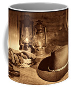 Cowboy Hat And Kerosene Lanterns Coffee Mug