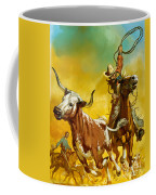 Cowboy Lassoing Cattle  Coffee Mug by Angus McBride