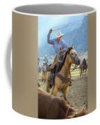 Cowboy Roping A Steer Coffee Mug