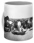 Cowboys Branding Cattle C. 1900 Coffee Mug