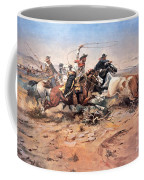 Cowboys Roping A Steer Coffee Mug