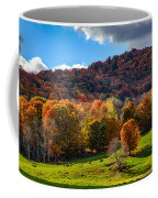 Cows In Pomfret Vermont Fall Foliage Coffee Mug