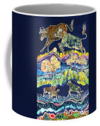 Cows Jumping Over The Moon Coffee Mug by Carol  Law Conklin
