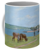 Cows On The Banks Of The Seine At Saint Mammes Coffee Mug