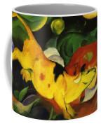Cows Yellow Red Green 1912 Coffee Mug