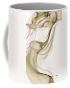Coy Lady In Hat Swirls Coffee Mug